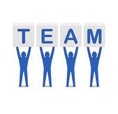 мужчин, занимающих слово команды. концепция 3d иллюстрация. — Стоковое фото