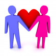 Foto Stock: Mand womin love. Couple. Concept 3D illustration.