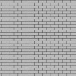 Gray Brick Wall. Seamless Tileable Texture. — Stock Photo