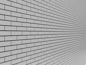 Gray Brick Wall. Concept 3D illustration. — Stock Photo