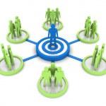 Business Network. Group leader. Concept 3D illustration. — Stock Photo #30466539