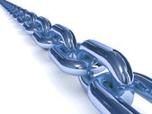 Blue chain over white background. 3D Concept illustration. — Stock Photo
