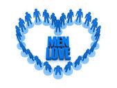 Men love. Concept 3D illustration — Stock Photo