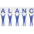 Men holding the word balance . Concept 3D illustration. — Stock Photo