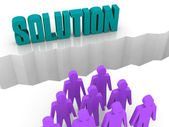 Team can not find a SOLUTION. Concept 3D illustration. — Foto Stock