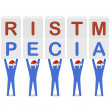 Men holding the words Christmas Special. Concept 3D illustration. — Stock Photo #32346689
