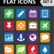 Universal Colorful Flat Icons. Set 3. — Stockvectorbeeld