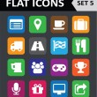 Universal Colorful Flat Icons. Set 5. — Stock Vector