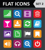 Universal Colorful Flat Icons. Set 2. — Stock Vector