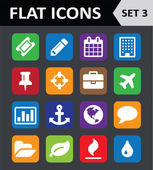 Universal Colorful Flat Icons. Set 3. — Stock Vector