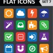 ストックベクタ: Universal Colorful Flat Icons. Set 7.