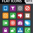 Universal Colorful Flat Icons. Set 9. — Stock Vector