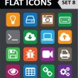 Universal Colorful Flat Icons. Set 8. — Stock Vector