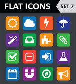 Universal Colorful Flat Icons. Set 7. — Stock Vector