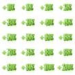 Set of 3D plus percent. Numbers. Green on white background. Conc — Stock Photo #33957171