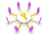 Team tillgång. administratörer. begreppet 3d illustration. — Stockfoto