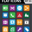 Universal Colorful Flat Icons. Set 11. — Imagen vectorial
