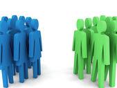 Groups of men and women. — ストック写真