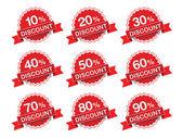 Discount percent sticker price tag. Vector illustration. — Stock Vector