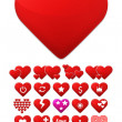 Heart icons set. Stylize trendy design. Vector concept illustrat — Vettoriale Stock