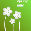 Spring time. Vector concept illustration. — Stock Vector