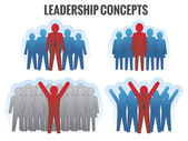 Leadership concepts. Vector illustration. — Stok Vektör