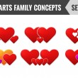 Hearts family concepts. Set 2. Vector illustration. — Stock Vector