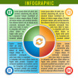 Simply infographic, four parts template. — Stockvektor #41019399