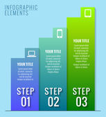 Infographic elements. Three steps to success. — Stock Vector