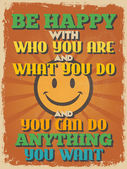 Retro Vintage Motivational Quote Poster. Vector illustration — Vector de stock
