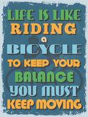 Retro Vintage Motivational Quote Poster. Vector illustration — Vetor de Stock