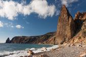 Costa rocciosa del Mar Nero — Foto Stock