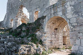 The ruins of of the ancient city on the plateau Mangup Kale. Crimea. Ukraine — Stock Photo