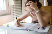 Girl studying — Stock Photo