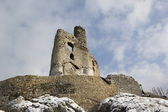Mirów castle ruins on a winter's night — Stock Photo