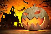 Eng jack o lantern halloween pompoen — Stockfoto