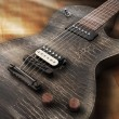 Stock Photo: Black electric guitar