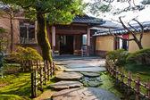 Japanese Garden at Nagamachi Samurai Distric Nomura-ke — Stock Photo