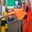 Closeup of fueling hose at gas station. — Stock Photo #29583665
