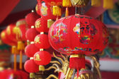 Rode chinese lantern in een chinese tempel — Stockfoto