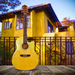 Stock Photo: Acoustic Cutaway Guitar