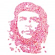 Che guevara composed from roses leaves — Stock Photo #29876577