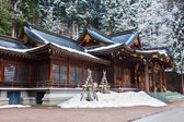 在飞驒高山市的樱山八幡宫 — 图库照片