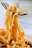 Espaguete de frutos do mar — Foto Stock