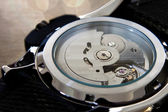 The back of a machanical automatic watch — Stock Photo