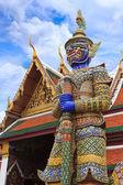 Demon Guardian at Wat Phra Kaew, Temple of the Emerald Buddha, B — Stock Photo