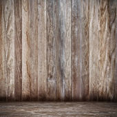 Wood fence background on a concrete floor — Stock Photo