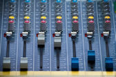 Compact Sound Mixer Board — Stock Photo