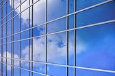Reflection on a building — Stok fotoğraf