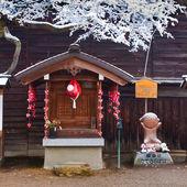 Sarobobo oltář v chrámu hida kokubunji v takayama — Stock fotografie